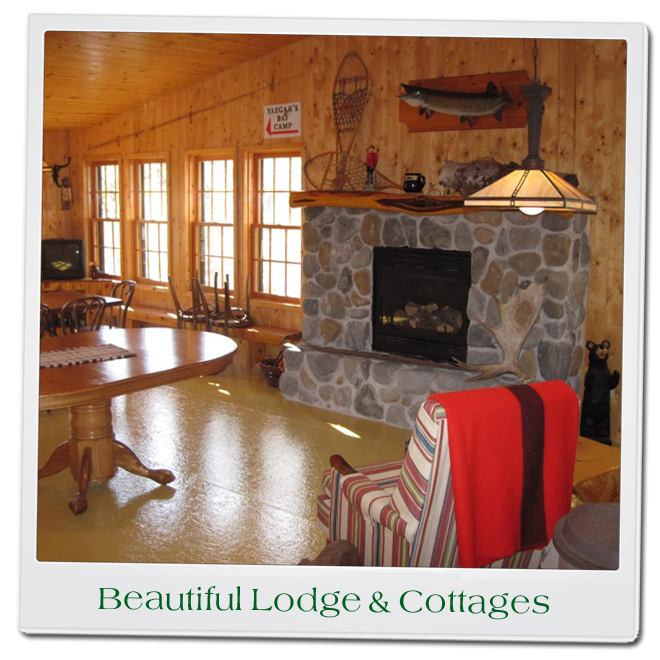 Beautiful Main Lodge and Big Roomy Lake Front Cottages